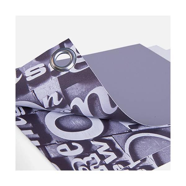 Bâche polyester dos gris 235g